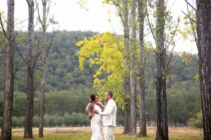 dancing couple a for a winer wedding at Stonehurst creek, Wollombi