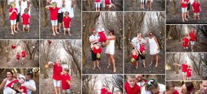 snapshot of client gallery from a Christmas photo session