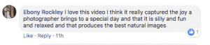 Positive testimonial from Ebony about our wedding photography and videographyservices