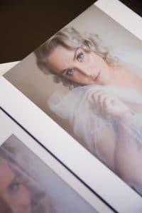 image in a wedding album of the bride