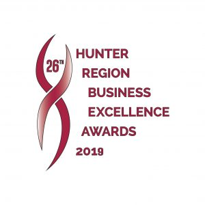 Hunter Regional Business excellence awards graphic
