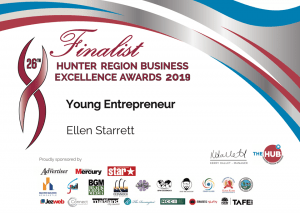 Hunter Regional Business excellence awards for Ellen Starrett, young entrepreneur