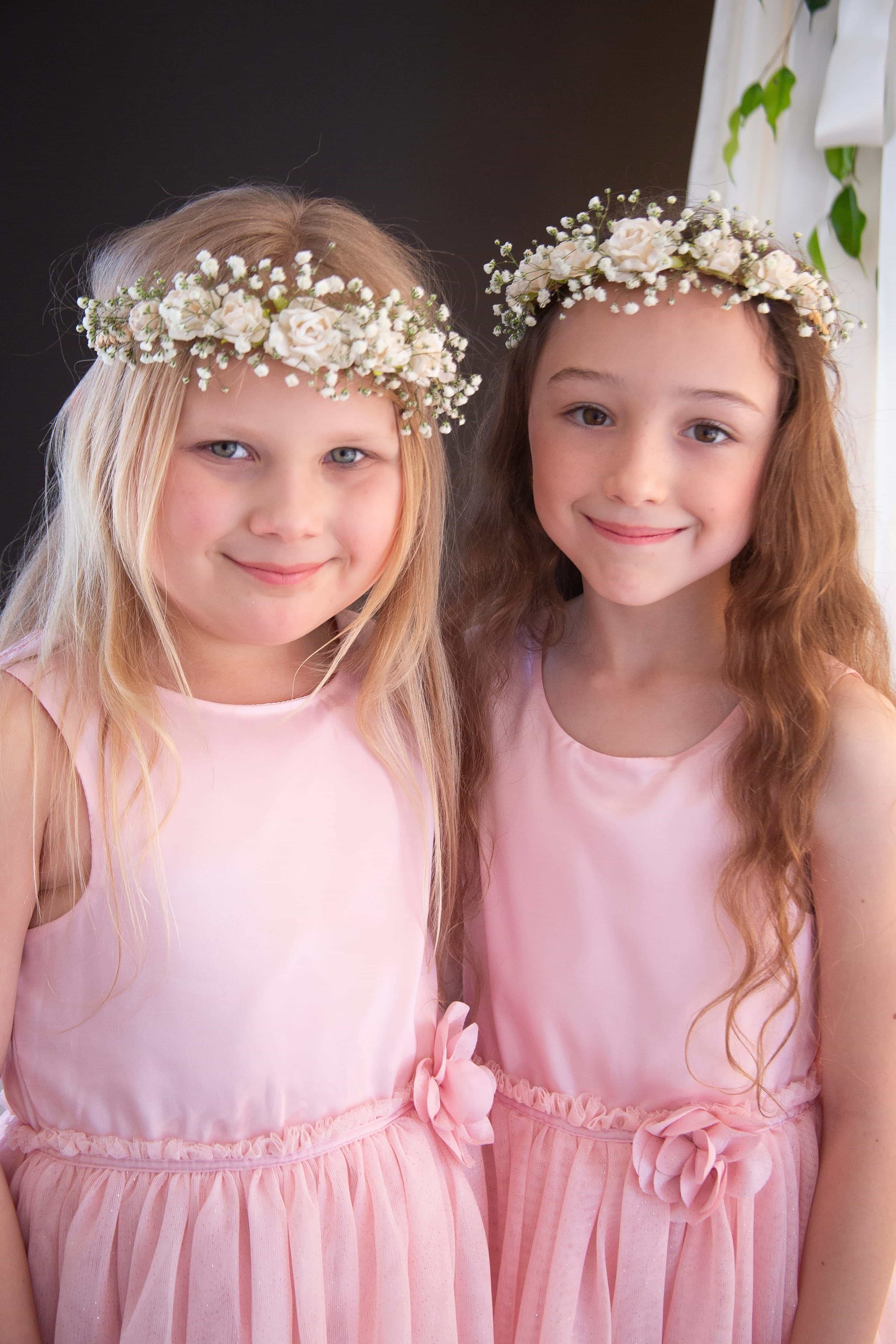 cute bridesmaids with flower crowns at noahs on the beach, Newcastle wedding venue